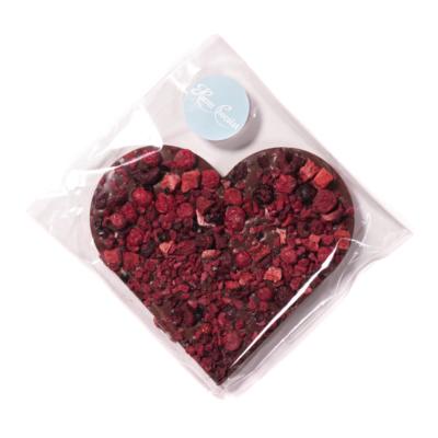 Csokoládészív liofilizált gyümölcsökkel / közepes