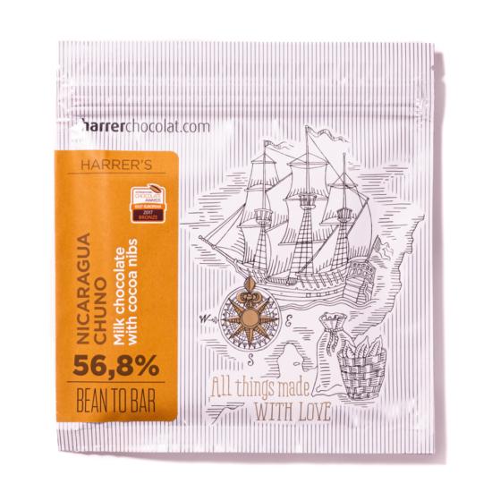 Nicaragua Chuno Traditional 56,8% tejcsokoládé kakaóbabtörettel