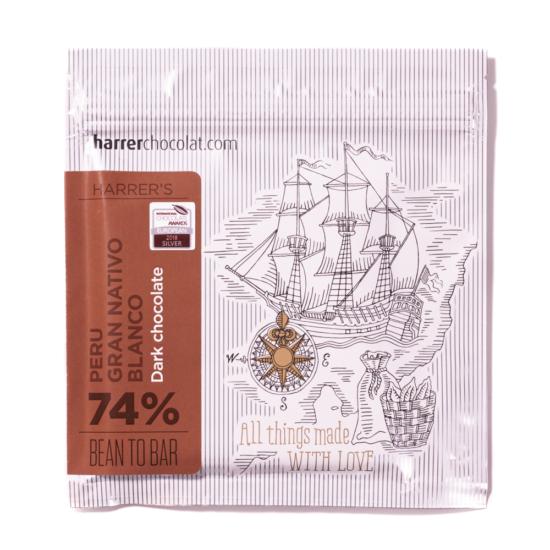 Peru Gran Nativo Blanco 74% étcsokoládé