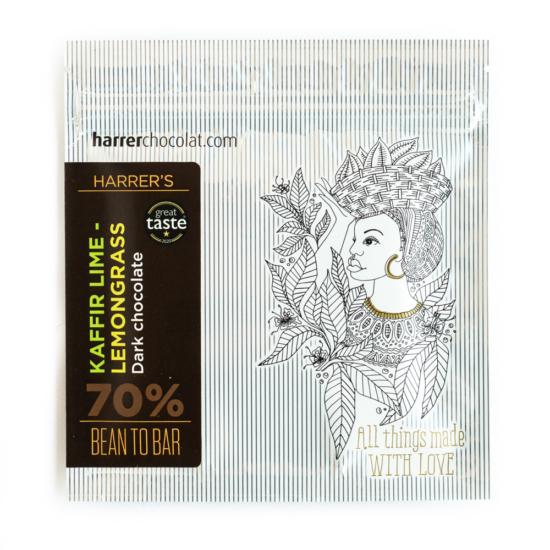 Kaffir lime levél - citromnád étcsokoládé